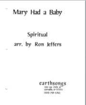 mary had a baby (pdf if ordered for entire choir)