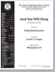 and you will sleep (satb)