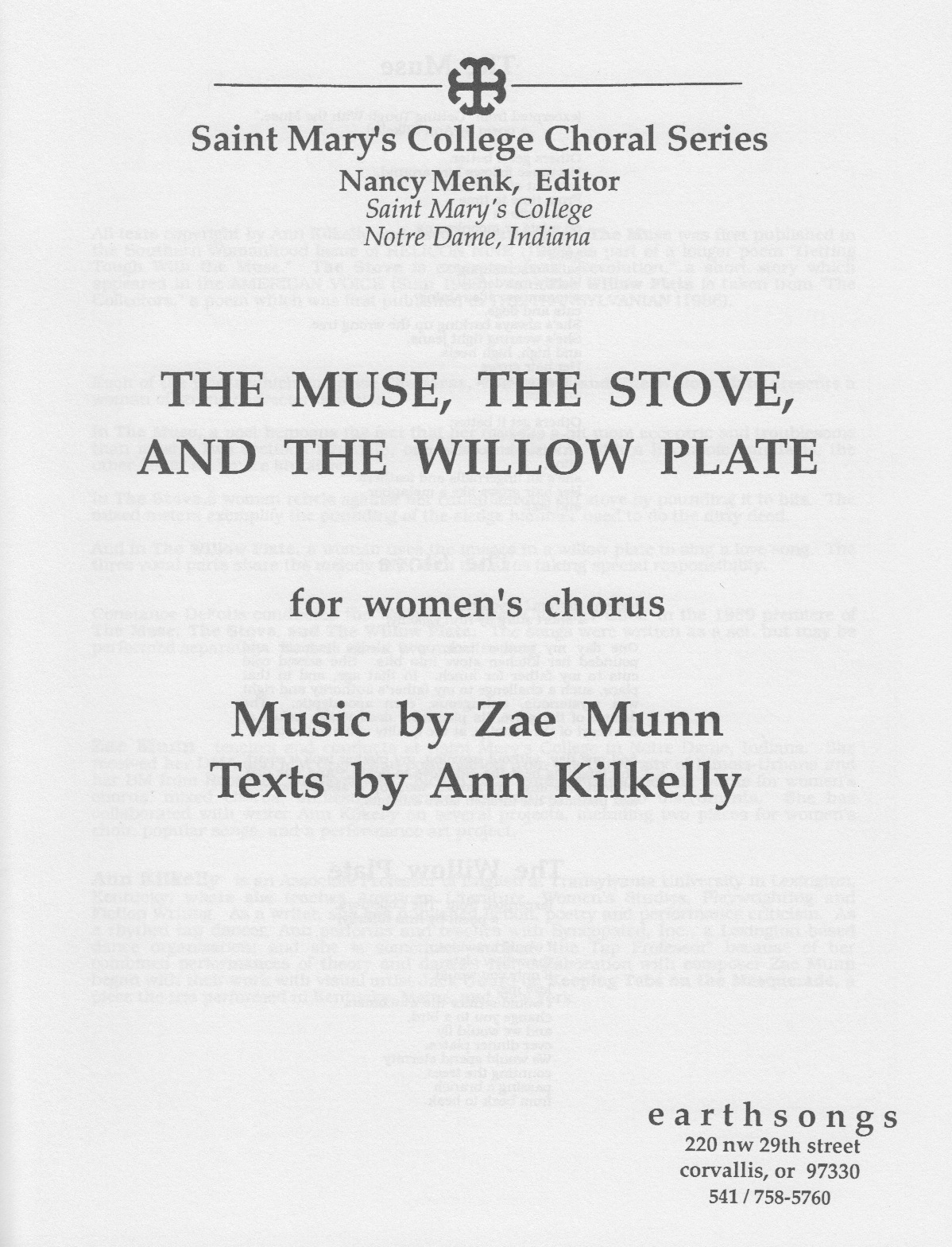 muse, stove, & willow plate (ssaa)