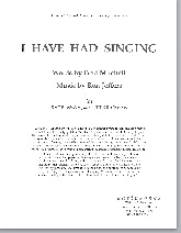 i have had singing - free pdf download (satb, ssaa, or ttbb)